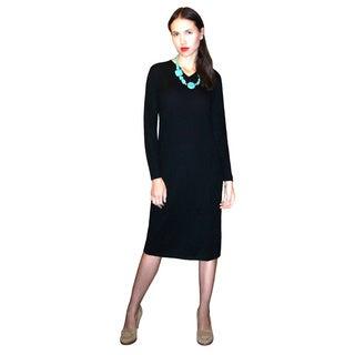 Dolores Piscotta Cashmere Vee Dress (5 options available)