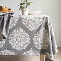 Now Designs Elmwood Grey Cotton Chambray Weave Tablecloth