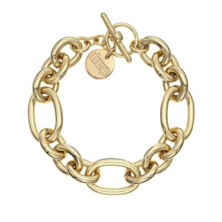 Isla Simone - 18 Karat Gold Plated Multi Link Bracelet with Toggle