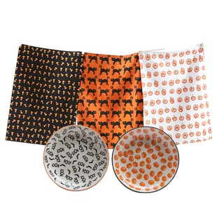 TAG Halloween Dishtowel and Plate Set (1 each)