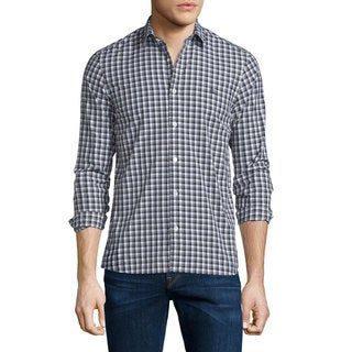 Burberry Garrison Grey Plaid Cotton Shirt