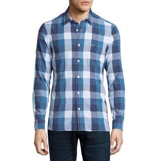 Burberry Julian Blue Buffalo Blue Check Shirt|https://ak1.ostkcdn.com/images/products/13050728/P19789132.jpg?impolicy=medium