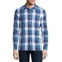 Burberry Julian Blue Buffalo Blue Check Shirt