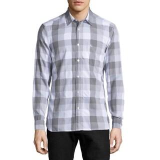 Burberry Julian Grey Buffalo Check Shirt (Size L)