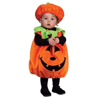 Halloween Pumpkin Orange Polyester Costume for Kids