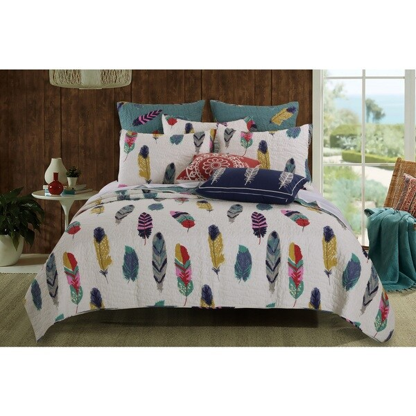 Shop Greenland Home Fashions Dream Catcher Teal 40Piece Quilt Set Stunning Dream Catchers Furniture