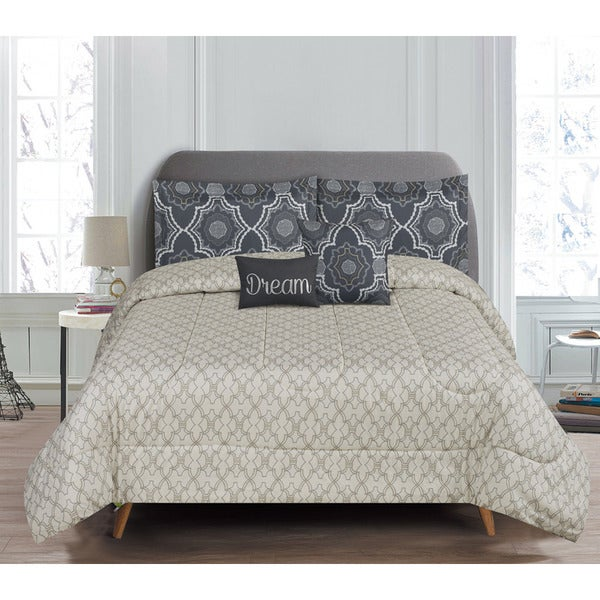5-Piece Reversible Crosby Comforter Set
