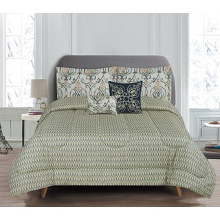 5-Piece Reversible Butler Comforter Set