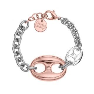 Isla Simone - 18 Karat Rose Gold & Silver Plated Figure 8 Bracelet