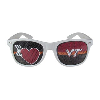 NCAA Virginia Tech Hokies Sports Team Logo I Heart Game Day White Shades