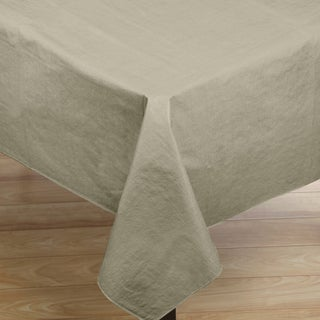 Polyester and Synthetic Fiber Vinyl Flannelback 52-inch x 90-inch Tablecloth