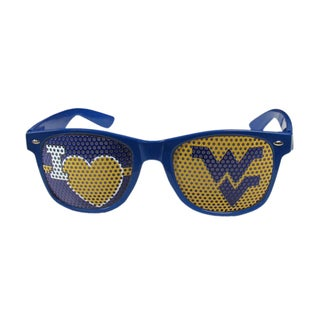 NCAA West Virginia Mountaineers Blue Polycarbonate I Heart Game Day Shades