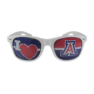 Siskiyou NCAA Arizona Wildcats Sports Team Logo I Heart Game Day White Polycarbonate Shades