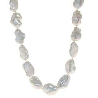 Pearls For You Women's 14K White Gold 14 to 17-millimeter Keshi Freshwater Pearl Strand