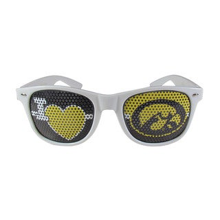 Siskiyou NCAA Iowa Hawkeyes Sports Team Logo I Heart Game Day White Polycarbonate Shades