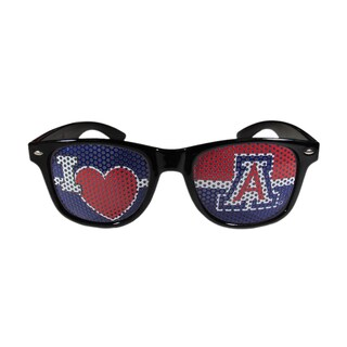 NCAA Arizona Wildcats Black Polycarbonate I Heart Game Day Shades