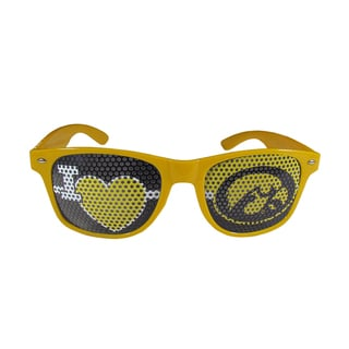 NCAA Iowa Hawkeyes I Heart Game Day Yellow Polycarbonate Shades