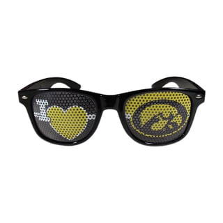 Siskiyou NCAA Iowa Hawkeyes 'I Heart Game Day' Black Shades