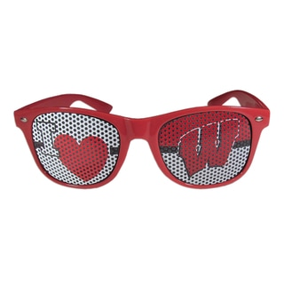 Siskiyou NCAA Wisconsin Badgers I Heart Game Day Red Polycarbonate Shades