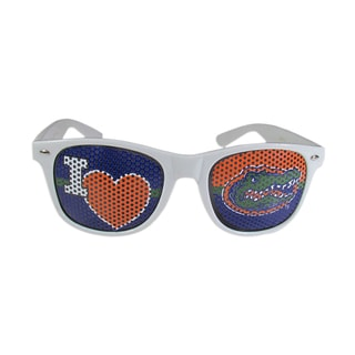 Siskiyou NCAA Florida Gators White 'I Heart Game Day' Shades