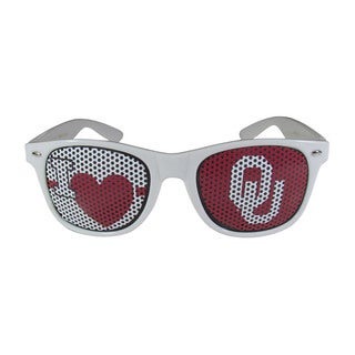 NCAA Oklahoma Sooners Sports Team Logo I Heart Game Day White Shades