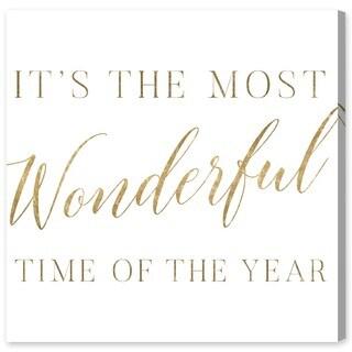 Oliver Gal 'Wonderful Time Gold'  Canvas Art