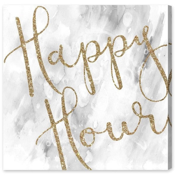 Oliver Gal 'Happy Hour Sparkle' Canvas Art