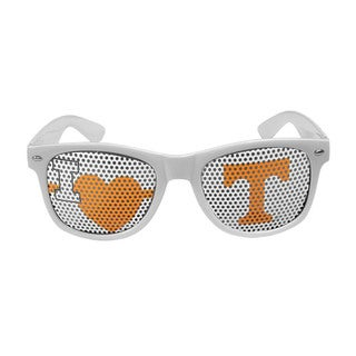 NCAA Tennessee Volunteers Sports Team Logo I Heart Game Day White Shades