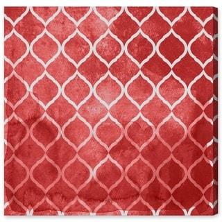Oliver Gal 'Global Brocade Red'  Canvas Art