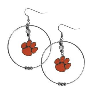 Siskiyou NCAA Clemson Tigers 2-inch Hoop Earrings Pack