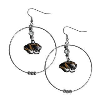 Siskiyou NCAA Missouri Tigers Logo 2-inch Hoop Earrings