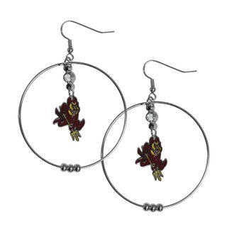 Siskiyou NCAA Arizona State Sun Devils Sports Team Logo 2-inch Hoop Earrings Pack