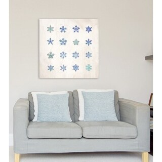 Oliver Gal 'Snowflakes' Canvas Art