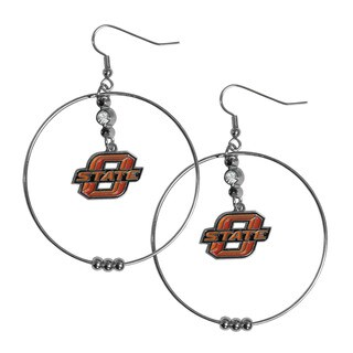 NCAA Oklahoma State Cowboys Sports Team Logo 2-inch Hoop Earrings Pack