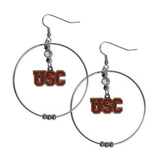 NCAA USC Trojans Sports Team Logo 2-inch Hoop Earrings Pack (Option: Usc Trojans)