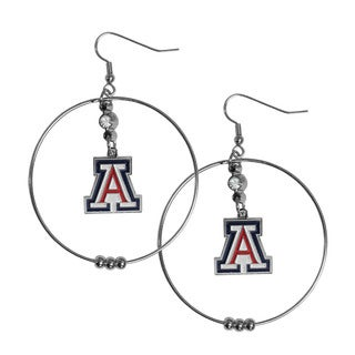 Siskiyou NCAA Arizona Wildcats Logo 2-inch Hoop Earrings