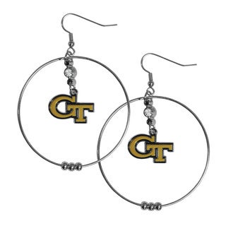 NCAA Georgia Tech Yellow Jackets Sports Team Logo 2-inch Hoop Earrings Pack