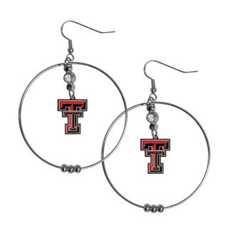 Siskiyou NCAA Texas Tech Raiders Sports Team Logo 2-inch Hoop Earrings Pack