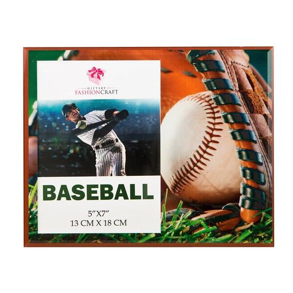 Baseball Themed Glass 5 x 7 Frame