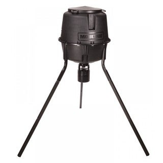 Moultrie Black Plastic Deer Feeder with Classic Tripod
