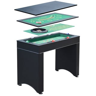 Hathaway Monte Carlo Black MDF 4-in-1 Casino Game Table