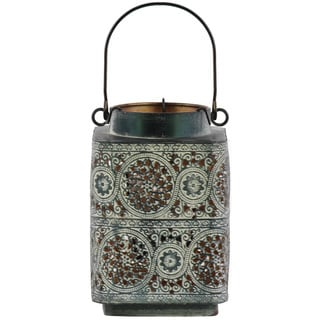 Urban Trends Collection Black Metal Square Lantern
