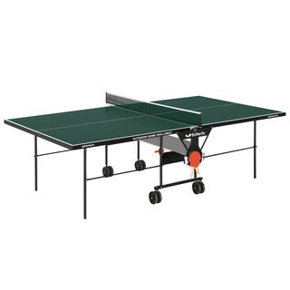 Butterfly Green Wood Table Tennis Outdoor Home Rollaway