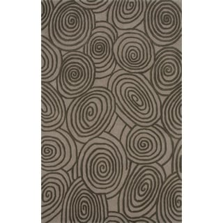 Noble House Inc Beverly Grey/Beige/Brown 100-percent New Zealand Wool Hand-tufted Rug (5' x 8')
