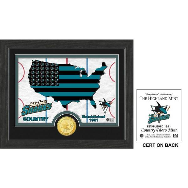 "San Jose Sharks ""Country"" Bronze Coin Photo Mint"