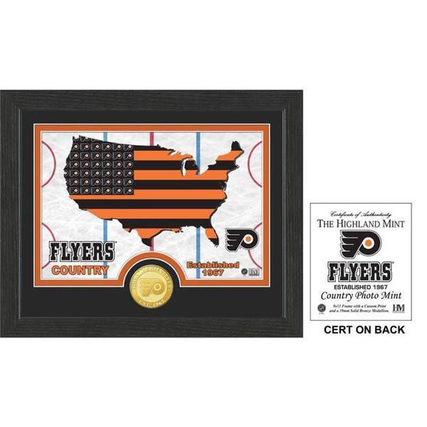 "Philadelphia Flyers ""Country"" Bronze Coin Photo Mint"