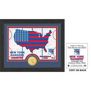 "New York Rangers ""Country"" Bronze Coin Photo Mint"