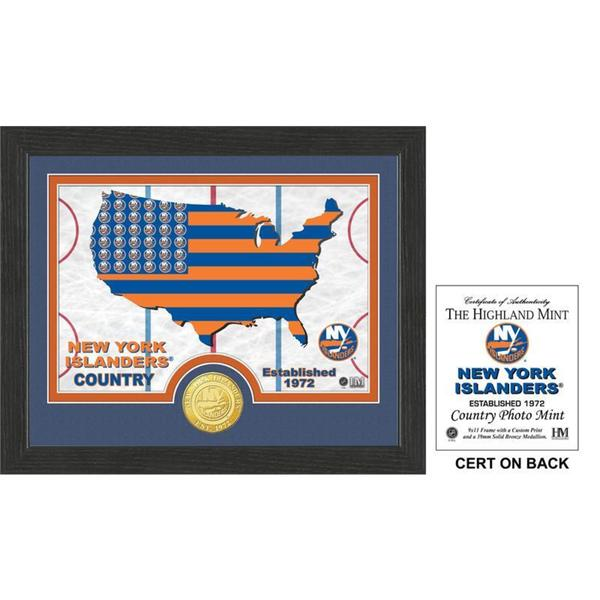 "New York Islanders ""Country"" Bronze Coin Photo Mint"