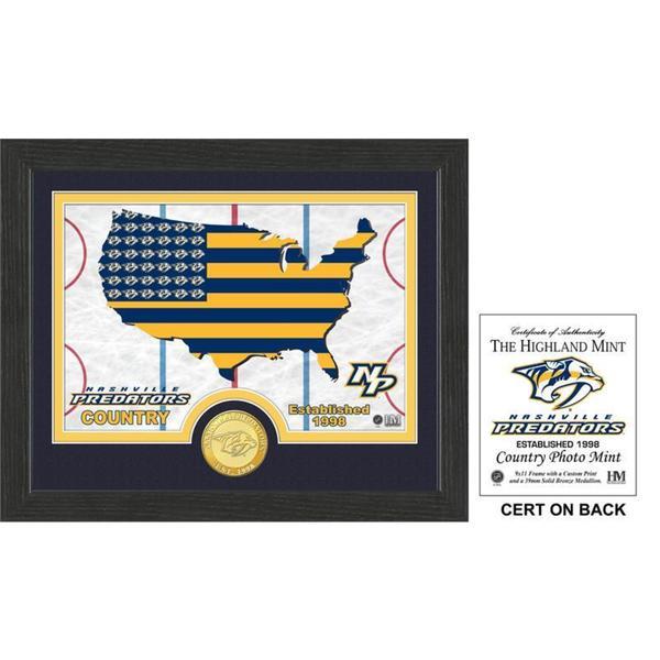 """Nashville Predators """"Country"""" Bronze Coin Photo Mint - Multi-color"""