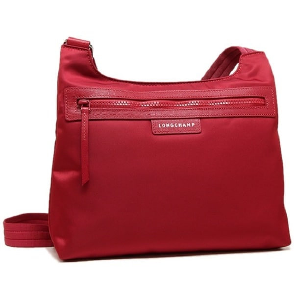 5181ae2aa Shop Longchamp Le Pliage Neo Red Nylon Crossbody Bag - Ships To ...